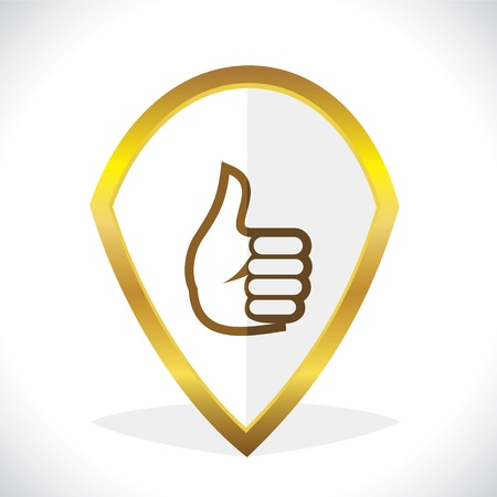 thumbsup:  Thumbs-Up  Like Icon Design Stock Vector Illustration