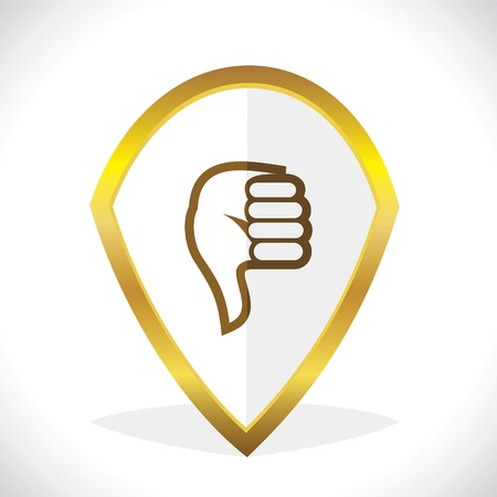 disapprove:  Thumbs-Down Unlike Icon Design Stock Vector