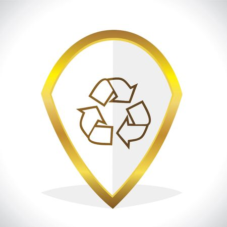 Recycle Icon Design Stock Vector Vector