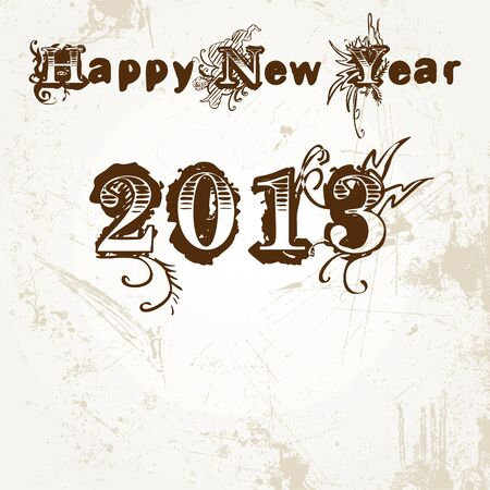 New Year Greeting,2013 Stock Vector - 17215468