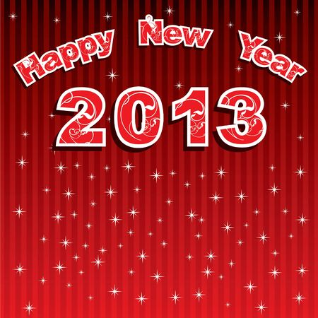 New Year Greeting,2013 Stock Vector - 17215464