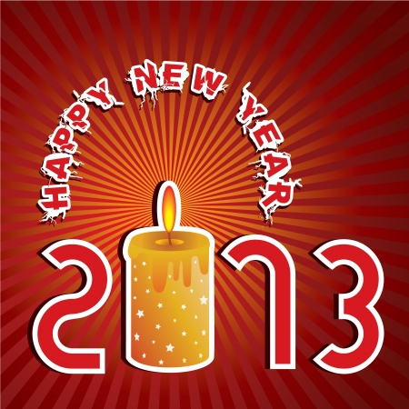 New Year Greeting,2013 Stock Vector - 17215465