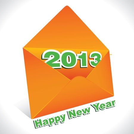 New Year Greeting,2013 Stock Vector - 17215463
