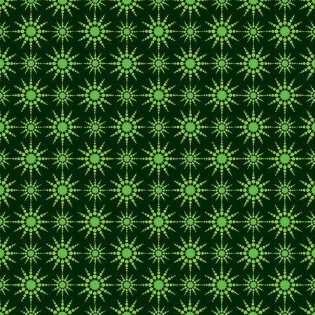 Vector illustration of seamless pattern with green circles  Stock Vector - 17215358