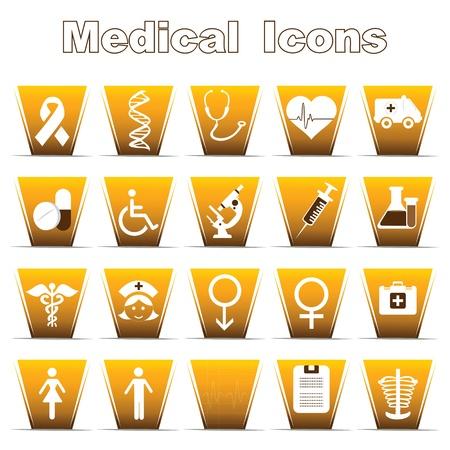 vih sida: Conjunto de iconos m�dicos