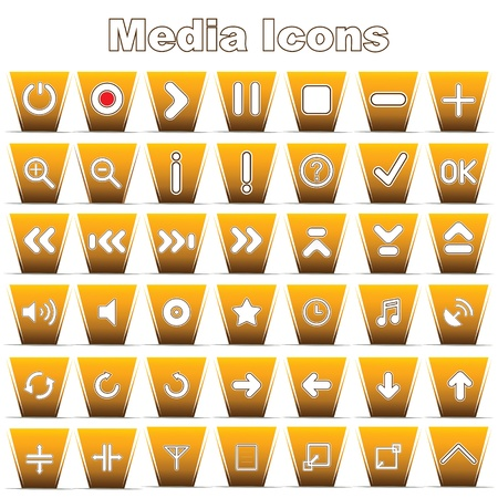 Set of Music Media Buttons Vector