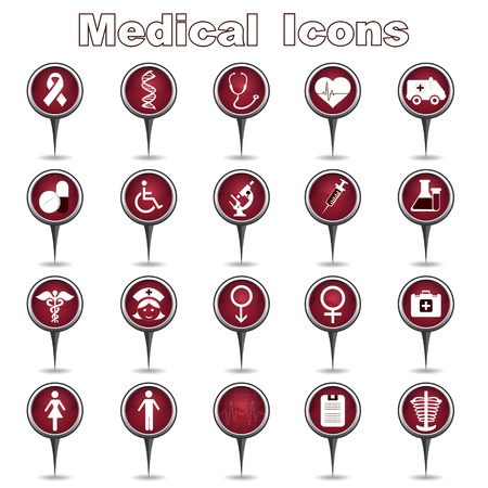 Set of Medical Icons Stock Vector - 17214911