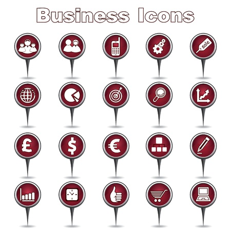 Set of Business Icons Stock Vector - 17214899