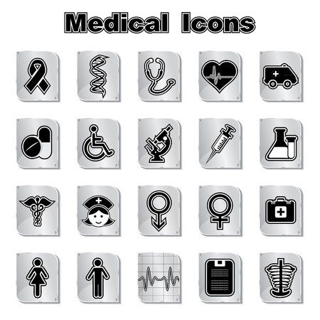 Set of Medical Icons Stock Vector - 17214905