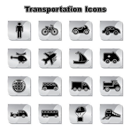 Set of Transportational Icons Stock Vector - 17214907