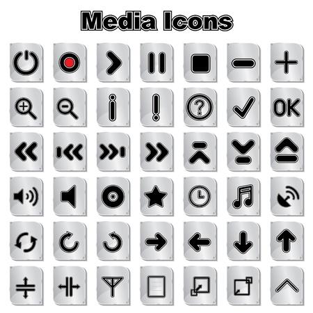 adentro y afuera: Conjunto de iconos Música Multimedia