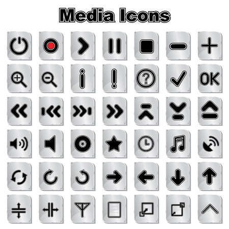 Set of Media Music Icons Stock Vector - 17214910