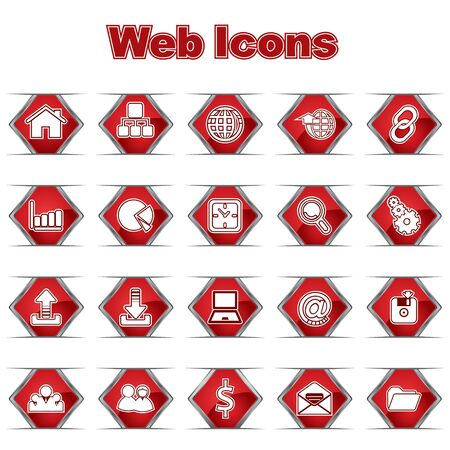 Set of Web Icons Stock Vector - 17214572