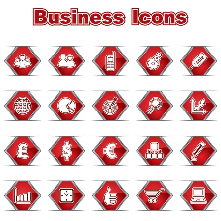 Set of Business Icons Stock Vector - 17214573