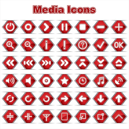 Set of Media Music Icons Stock Vector - 17214565