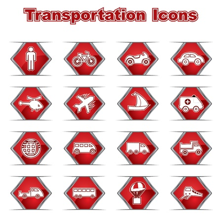 Set of Transportational Icons Stock Vector - 17214560