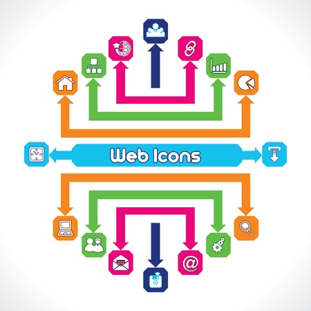 Set of Web Icons Stock Vector - 17214308