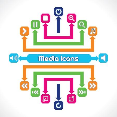 mute: Set of Media Music Icons