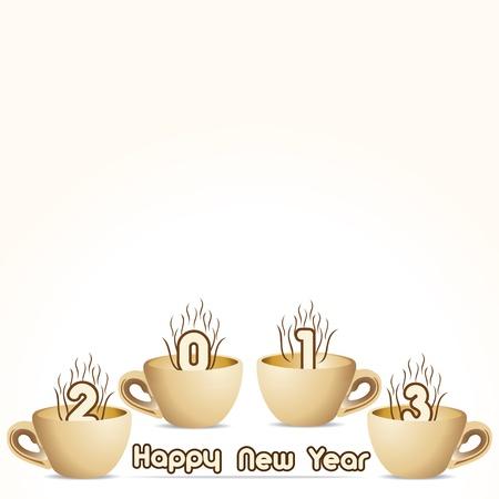 two thousand thirteen:  New Year Greeting,2013  Illustration