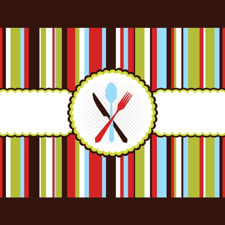 colorful strip menu card stock vector background Stock Vector - 17203717