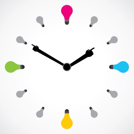 colorful bulb clock stock vector Vector