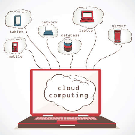 cloud computing concept stock vector Stock Vector - 17203730