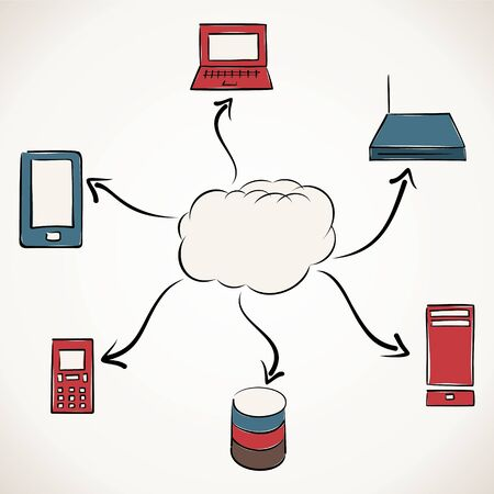 cloud computing stock vector Stock Vector - 17203714