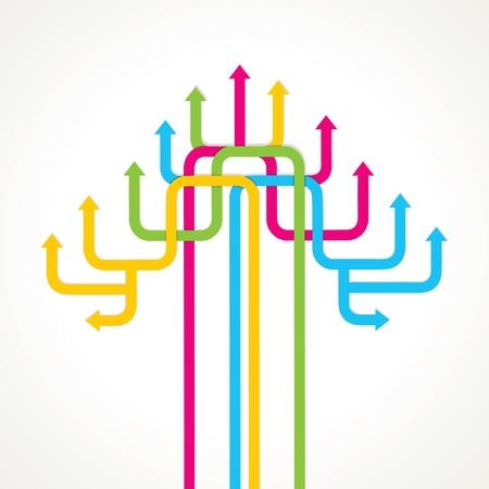 colorful arrow tree design stock Stock Vector - 17203213