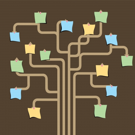 family picture: blank paper note graph tree stock