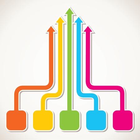 creative colorful arrow design stock Illustration