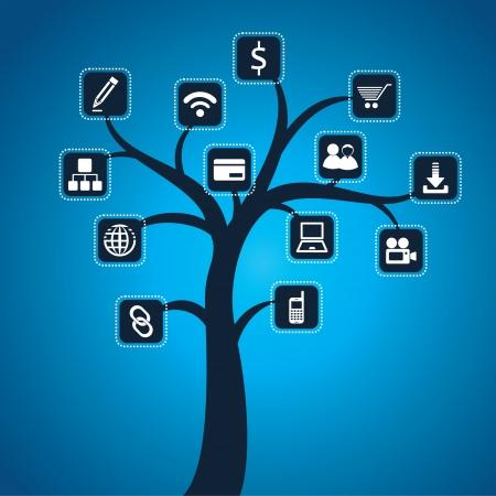 social issues: social media icona stock