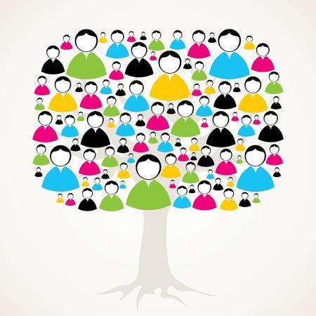 collaboration team: social medial network tree stock