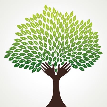 mano verde stock vector Ilustración de vector