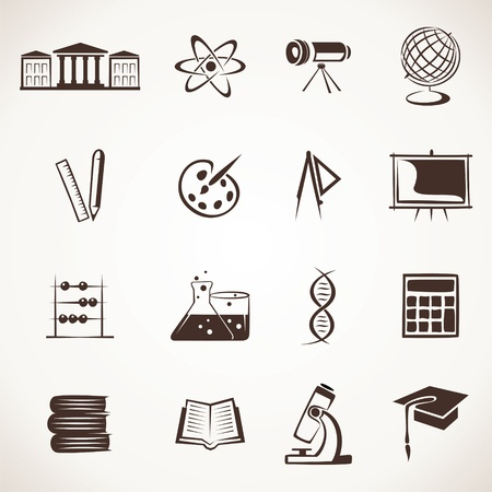 mortar board: educational icon stock vector Illustration