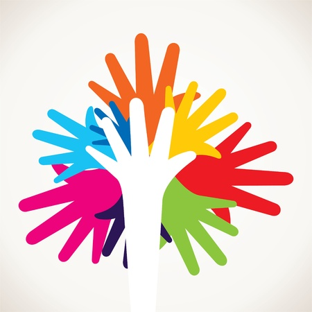 colorful hand stock Stock Vector - 17127386
