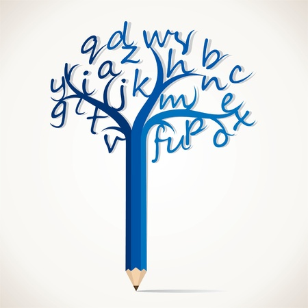 educational tools: alphabetical tree stock