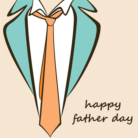 happy father day greeting stock  Vector