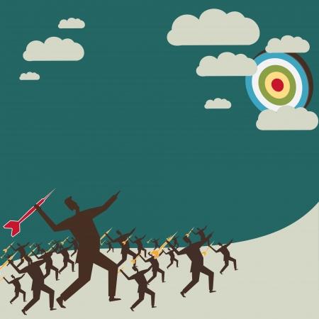 bull s eye: focus on your goal stock vector