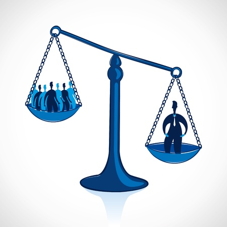 outweigh: leadership concept stock vector