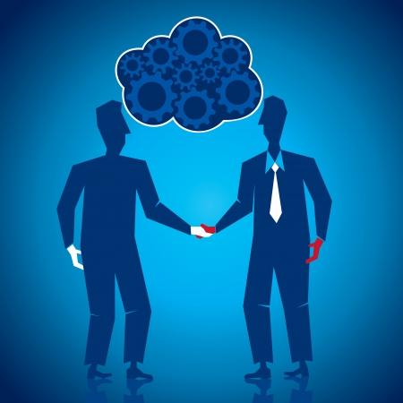 both: both businessmen shake hand s