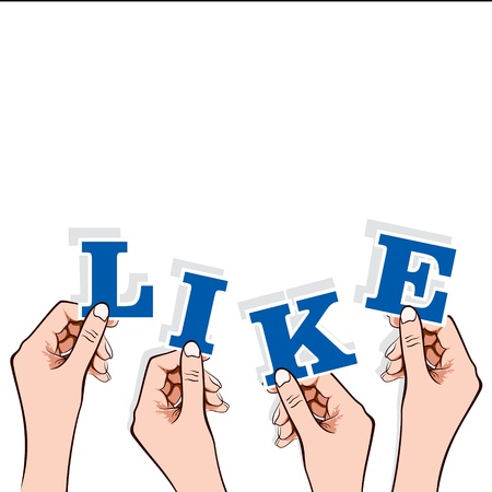 like word in hand stock vector Stock Vector - 17108308