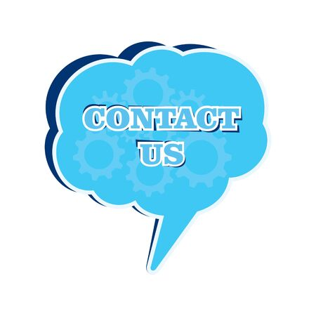 contact us message bubble stock vector Stock Vector - 17108299