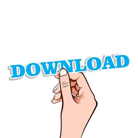 download  label in hand stock vector Stock Vector - 17108214