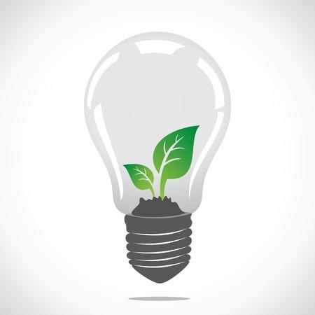 flower power: small plant in bulb stock vector Illustration