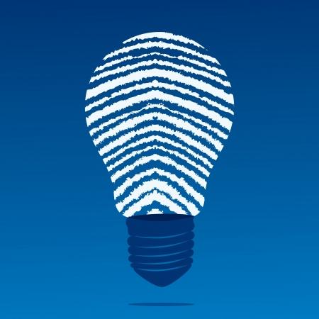 finger print bulb stock vector Stock Vector - 17093394