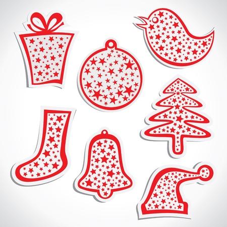 christmas sticker stock vector Stock Vector - 17107790