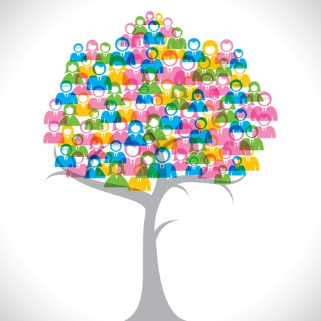 colorful businessmen tree stock vector Vector