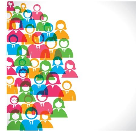 vida social: empresarios fondo de colores stock vector