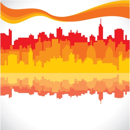 abstract city background stock vector Stock Vector - 17763342