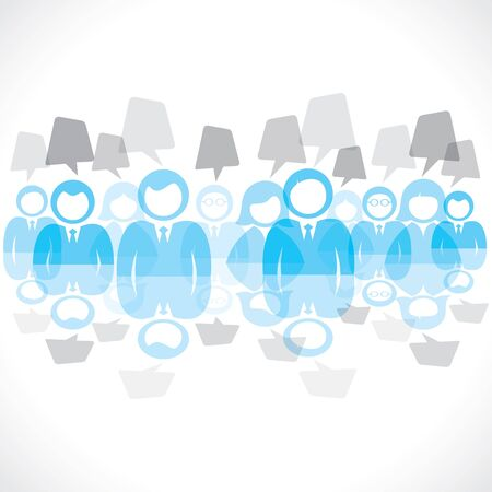 businessmen team with message bubble  Vector